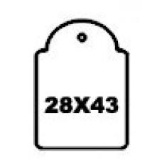 Hangetiket met koord 28x43mm 500st Td35252843